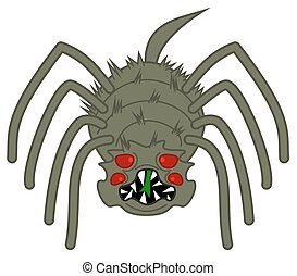 a horrible, big scary spider