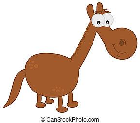 a horse cartoon