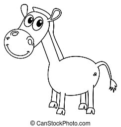 a horse for coloring