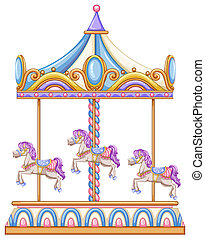 A horse ride at the carnival - lllustration of a horse ride...