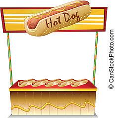 A hotdog stand