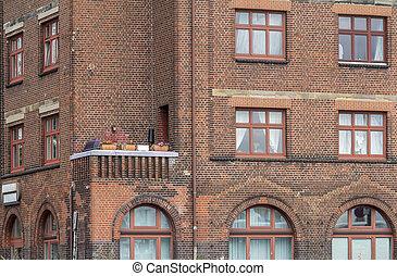 house facade with balcony