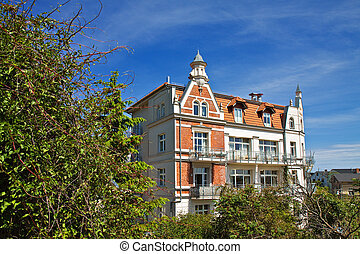 A house in Sassnitz on the island Ruegen (Germany).