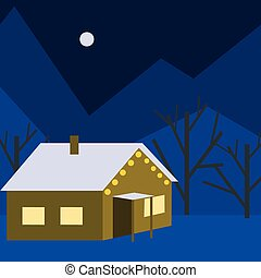 A house in winter