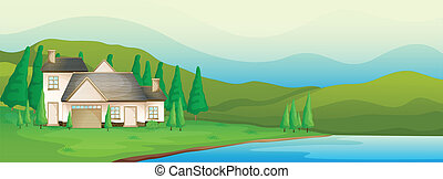 A house near the river