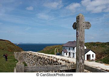 A house on the coastal path