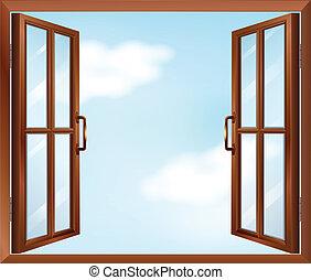 A house window