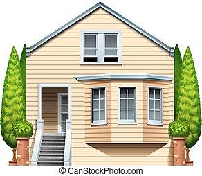 A house with houseplants