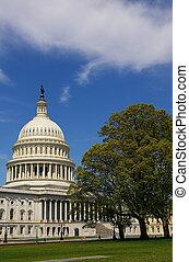 a, hozzánk capitol, épület, alatt, washington, egyenáram