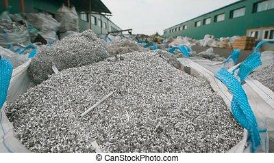 A huge amount of debris that looks like metal shavings is at...