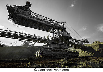 a huge mining machine