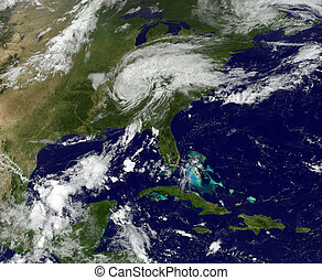 A Hurricane viewed from space. Elements of this image are...
