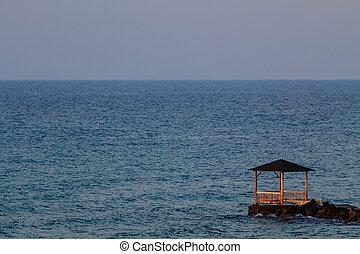 A hut at the coast