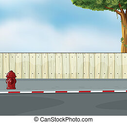 A hydrant at the street - Illustration of a hydrant at the...