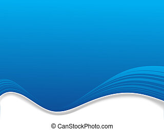 A Illustrated abstract background with flowing blue wave ...