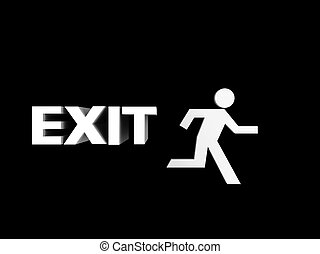 exit sign - a illustration of a exit sign
