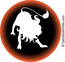 zodiac button leo