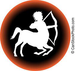 zodiac button sagittarius
