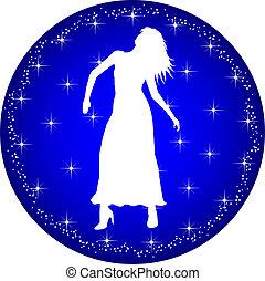 zodiac button virgo