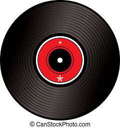 record - A illustration of an old fashioned lp or record