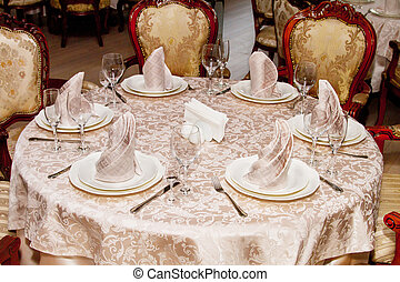 image of served table in restaurant
