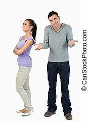 a, indice, sien, mâle, non, petite amie, désordre, pourquoi, jeune