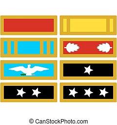 a, insignia, de, a, exército, durante