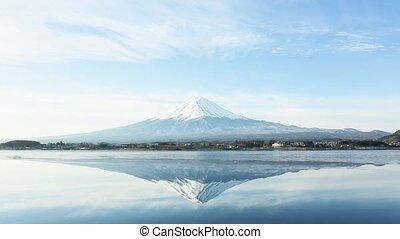 a inverted image of Mt. Fuji