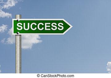 a, irány, fordíts, siker