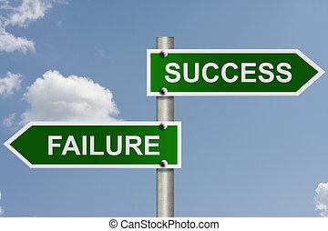 a, irány, fordíts, siker, vagy, balsiker