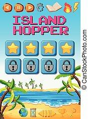 A island game template