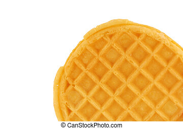 A Isolated breakfast waffle on white