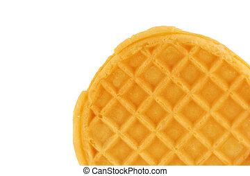 Isolated breakfast waffle - A Isolated breakfast waffle on...