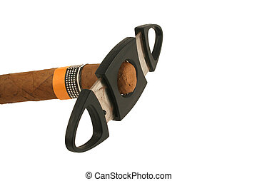 Isolated cigar with cutter