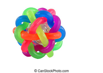 Isolated Colorful rubber ball