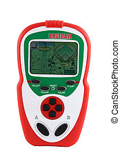 Isolated handheld baseball video game - A Isolated handheld ...