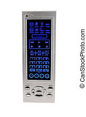 TV remote control - A Isolated lighted TV remote control on...