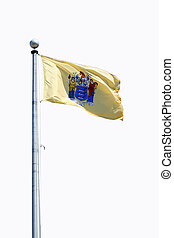 Isolated New Jersey state flag on white