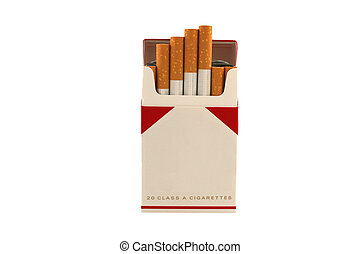 A Isolated Pack of Cigarettes on a white background