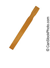 A Isolated paint stirrer stick on white