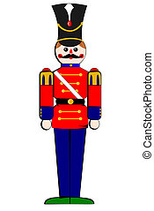 Isolated toy wooden soldier - A Isolated toy wooden soldier...