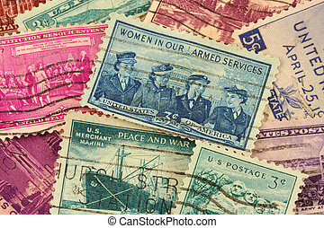 US postage stamps