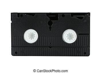 Isolated VHS cassette tape