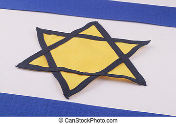 israel flag - A israel flag with a yellow Star of David