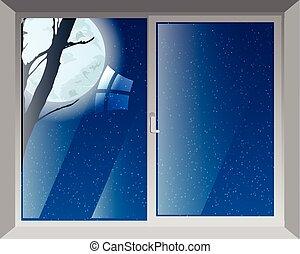 a, janela, de, a, noturna, é, a, estrelado, lua