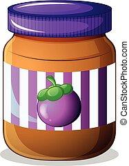 A jar of eggplant jam