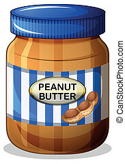 A jar of peanut butter - Illustration of a jar of peanut...