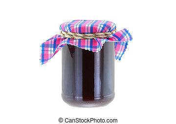 Raspberry jam with thyme