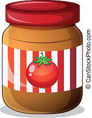 A jar of tomato jam