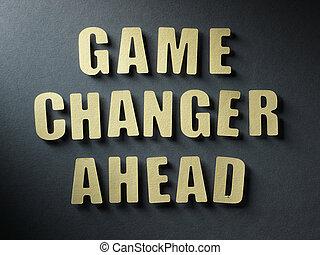 a, jogo palavra, mudador, à frente, ligado, papel, fundo